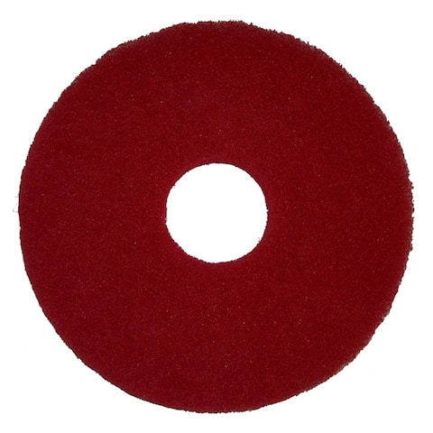 Bissell Commercial 12-Inch Red Polish Pad for BGEM9000 Floor Machine