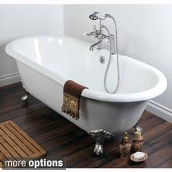 Double Ended Cast Iron 66-inch Clawfoot Bathtub with 7-inch Drillings|https://ak1.ostkcdn.com/images/products/8083787/Double-Ended-Cast-Iron-66-inch-Clawfoot-Bathtub-with-7-inch-Drillings-P15437161.jpg?impolicy=medium