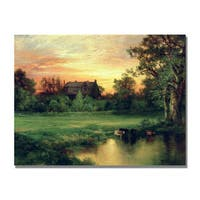Thomas Moran 'East Hampton Long Island' Canvas Art - Multi