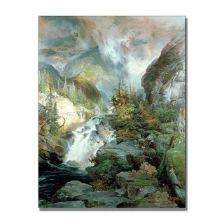 Thomas Moran 'Children of the Mountain' Canvas Art