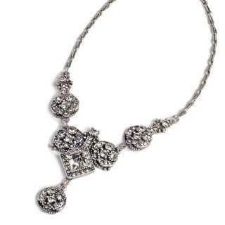Sweet Romance Art Deco Diamond Harlequin Wedding Necklace