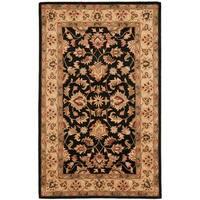 Safavieh Handmade Heritage Timeless Traditional Black/ Gold Wool Rug - 11' x 15'