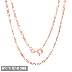 Sterling Essentials 14k Rose Gold over Silver 18-inch Pendant Chain