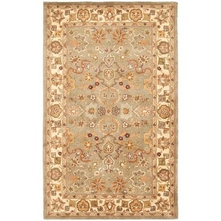 Safavieh Handmade Heritage Traditional Oushak Light Green/ Beige Wool Rug (11' x 15')