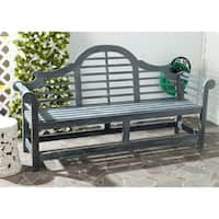 Safavieh Outdoor Living Khara Ash Grey Acacia Wood Bench