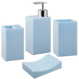 Jovi Home Blue Paragon Bath Accessory 4-piece Set