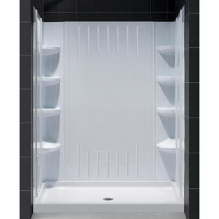 Dreamline Slimline 32 In By 60 Single Threshold Shower Base And Qwall