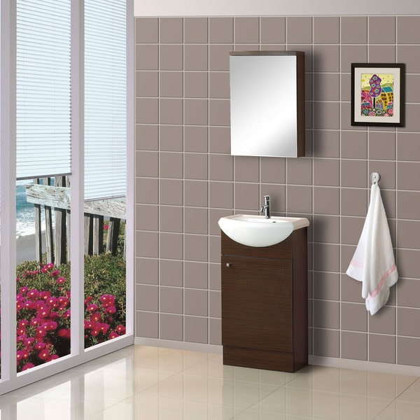 Lovely DreamLine 18 Inch Floor Standing Modern Bathroom Vanity Set Gallery