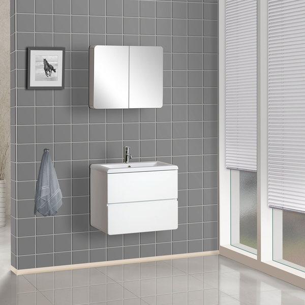 Shop Dreamline Wall Mounted Modern Bathroom Vanity Set Free - Contemporary-bathroom-vanities-from-dreamline