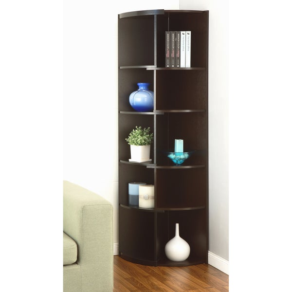 modern corner furniture. furniture of america shifter modern expandable twotone corner bookcase display stand