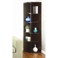 Furniture Of America Shifter Black Cuccino Two Tone Modern Expandable Corner Bookcase Display