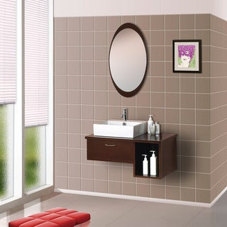 Dreamline Wall Mounted Modern Bathroom Vanity Set Free Shipping Today 15437383