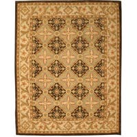 Hand-tufted Wool Brown Traditional Oriental Khyber Rug (8'9 x 11'9)