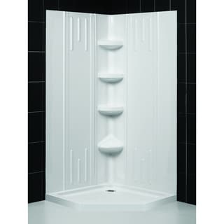 SlimLine 36 x 36-inch Neo Shower Base and QWALL-2 Shower Backwalls Kit