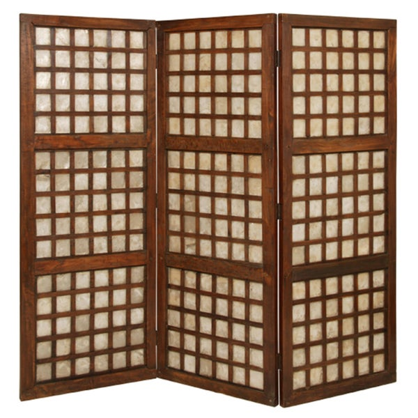 handmade capiz square screen room divider philippines