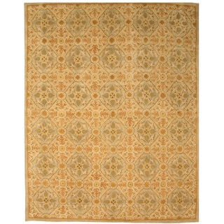 Hand-tufted Wool Ivory Traditional Oriental Kabul Rug (8'9 x 11'9)