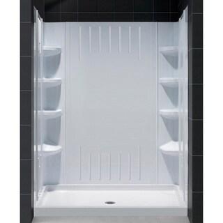 DreamLine SlimLine 36 in. by 60 in. Single Threshold Shower Base and QWALL-3 Shower Backwall Kit
