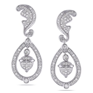 Miadora Signature Collection 14k White Gold 1 1/4ct TDW Diamond Earrings