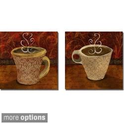 Elizabeth Medley 'Cafe I and II' 2-piece Canvas Art Set