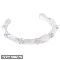Sweetie Pie Collection Girls Peau Satin Beaded Headband