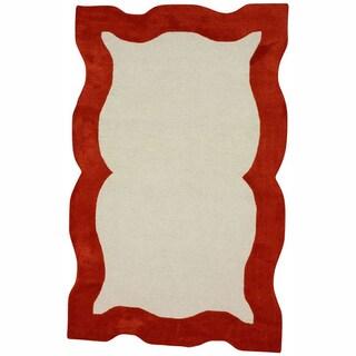 nuLOOM Handmade Carved Orange Rug (7'6 x 9'6)