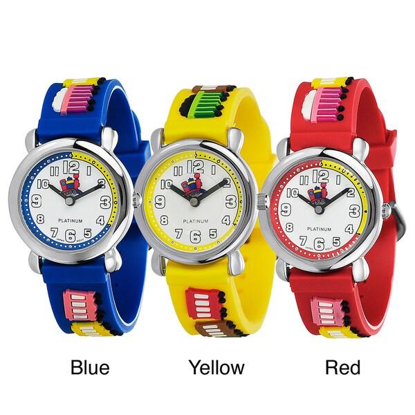 Geneva Platinum Kid's Train Silicone Watch