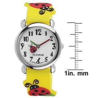 Geneva Platinum Kids' Ladybug-Motif Silicone Watch