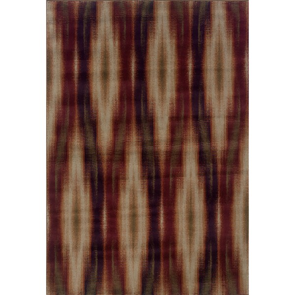 "Abstract Brown/ Red Area Rug (7'10 x 10'10) - 7'10"" x 10'10"""