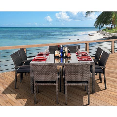 Havenside Home Popham 9-piece Square Grey Dining Set