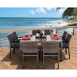 Atlantic Grand Liberty 9 Piece Square Grey Dining Set