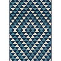 "Momeni Baja Kaleidoscope Blue Indoor/Outdoor Area Rug - 5'3"" x 7'6"""
