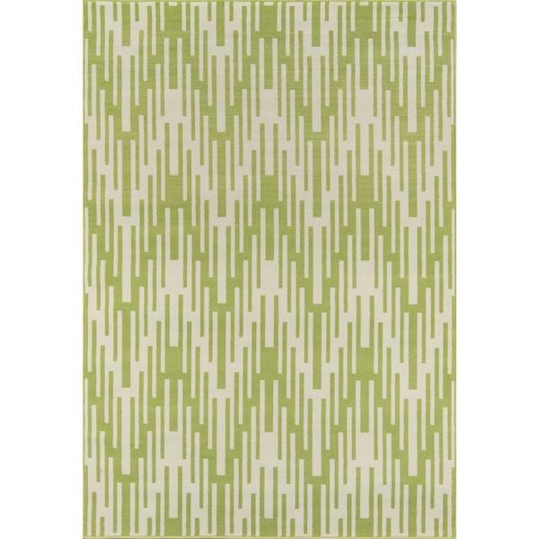 """Momeni Baja Ikat Green Indoor/Outdoor Area Rug - 7'10"""" x 10'10"""""""