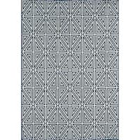 "Momeni Baja Diamonds Navy Indoor/Outdoor Area Rug - 6'7"" x 9'6"""