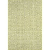 "Momeni Baja Diamonds Green Indoor/Outdoor Area Rug - 1'8"" x 3'7"""