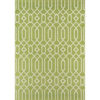 Indoor/Outdoor Green Links Rug (5'3 x 7'6)