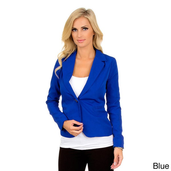 Stanzino Women's Slim Fit Single Button Blazer