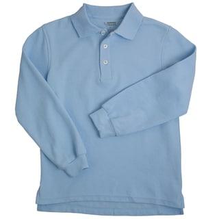 Boys Long Sleeve Pique Polo Shirt