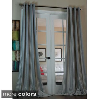 Lambrequin Bali Stripe Linen Blend 96-inch Curtain Panel - 55 x 96