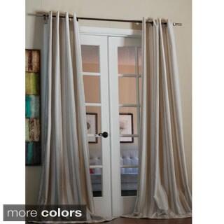 Lambrequin Taylor Bold Stripe Linen Blend 96-inch Curtain Panel - 55 x 96