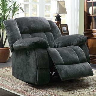 Mason Modern Grey Microfiber Glider Reclining Chair by TRIBECCA HOME