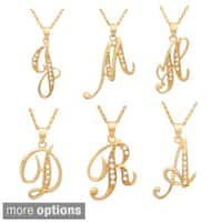 Roberto Martinez Yellow Gold Plated Silver Script Initial Necklace