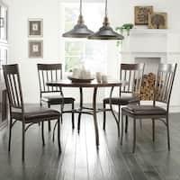 Keyaki Rustic Antique Bronze 5-piece Oak Dining Set by iNSPIRE Q Classic