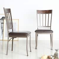 Keyaki Antique Bronze Finish Birch Accent Dining Chairs (Set of 2) by iNSPIRE Q Classic