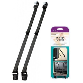 KidCo Black Anti-Tip TV Straps (Pack of 2)