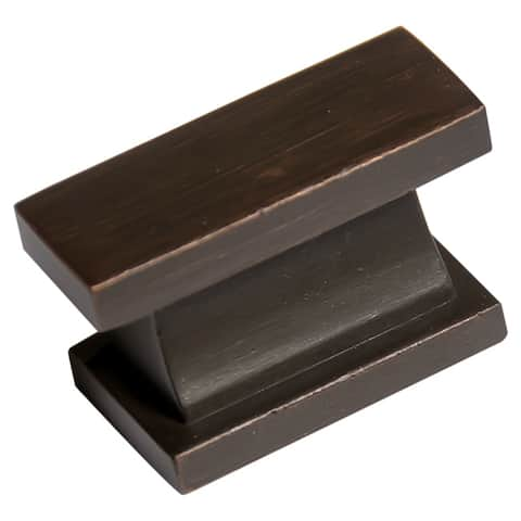 Southern Hills Oil Rubbed Bronze Rectangular Cabinet Knob (Pack of 5)