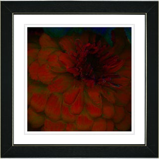 Studio Works Modern 'Red Dahlia' Framed Art Print