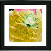 Studio Works Modern 'Yellow Dahlia' Framed Art Print
