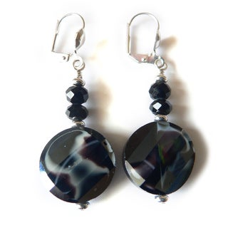 'Paulette' Glass Dangle Earrings