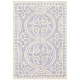 Safavieh Handmade Cambridge Moroccan Lavender/ Ivory Rug (2'6 x 4')