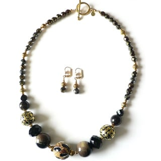 'Snake Charmer' Necklace and Earring Set